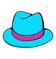 men hat icon cartoon vector image