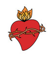 sac heart blessed image vector image