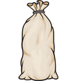 Grain in burlap sacks vector image vector image