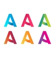 A letter logo monogram technology symbol icon vector image