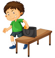Boy stealing things from purse vector image
