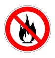 No fire sign 1103 vector image