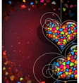 Abstract Valentines Day card vector image