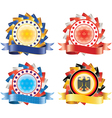 Award ribbon rosettes National flag colors vector image
