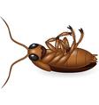 Cartoon dead cockroach vector image