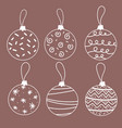 creative christmas ball isolated on background vector image