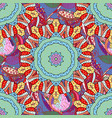 decorative indian round mandala on colorful vector image