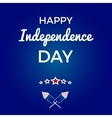 Greeting card Independence day vector image