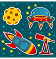 icon set space vector image