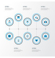 medicine colorful icons set collection of medical vector image