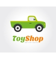 Toy car logo template for branding and vector image