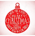 Vintage Typography Christmas Card vector image