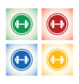 weights logo set vector image