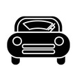 windshield car icon black vector image