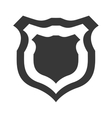 shield protection insignia security military icon vector image