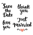 Wedding hand written lettering Modern Calligraphy vector image