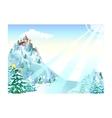Winter Castle Background vector image vector image