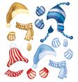 set hats vector image
