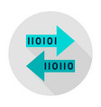 bit transfer circle icon vector image