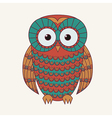 decorative cute owl vector image
