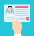 license doctor in hand vector image