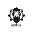 motor devil star square frame white background vec vector image