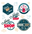 music logo set vector image