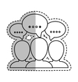 People talking pictogram vector image