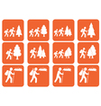 Set of hiking icon vector image