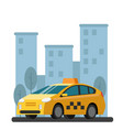 taxi car picture in flat vector image