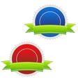 Two blank icons vector image