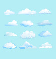 white clouds on light blue vector image