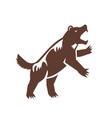wolverine standing hind legs retro vector image