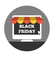 Online shoping on black friday vector image vector image