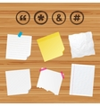 Quote asterisk footnote icons Hashtag symbol vector image