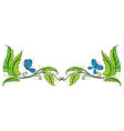 A border with butterflies vector image