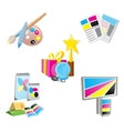 promotional items icons vector image