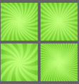 Green spiral and ray burst background set vector image