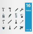 Working tools icon set vector image vector image