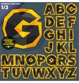 Crumpled paper alphabet vector image vector image