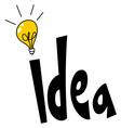 idea word design vector image vector image