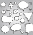 set of banners arrows symbols sketch contour pen vector image