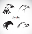 group of eagle head design vector image