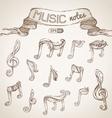 Set of vintage music symbols vector image