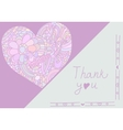 Cute card template in pink colors Stylish vector image