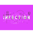 Medicine concept infection vector image