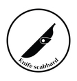 Knife scabbard icon vector image
