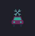 Car service computer symbol vector image