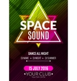 Club electronic space sound music poster Musical vector image