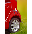Ecological modern electric car vector image